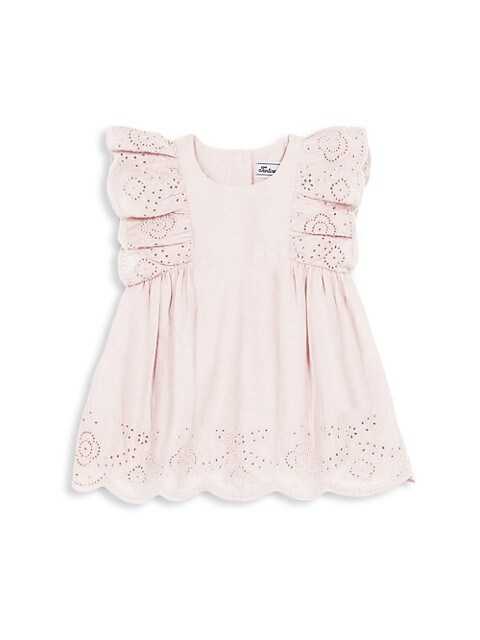 Baby's & Little Girl's Dress With Embroideries