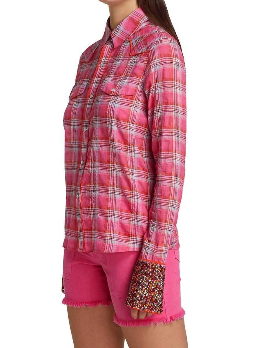 LE SUPERBE Shirts WOMEN'S COWBOY PLAID SHIRT