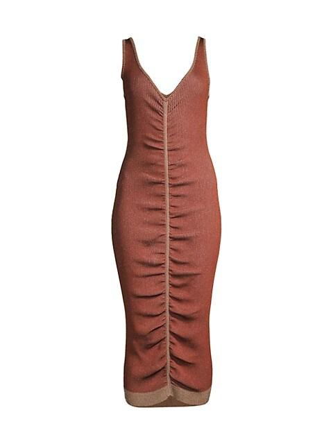 Leah Ruched Midi Dress