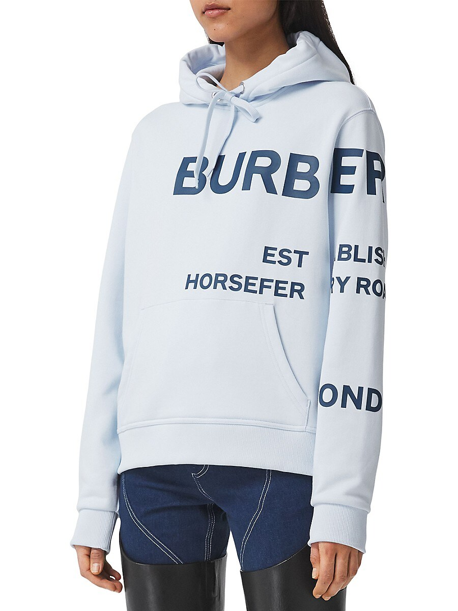BURBERRY Cottons WOMEN'S POULTER LOGO HOODIE