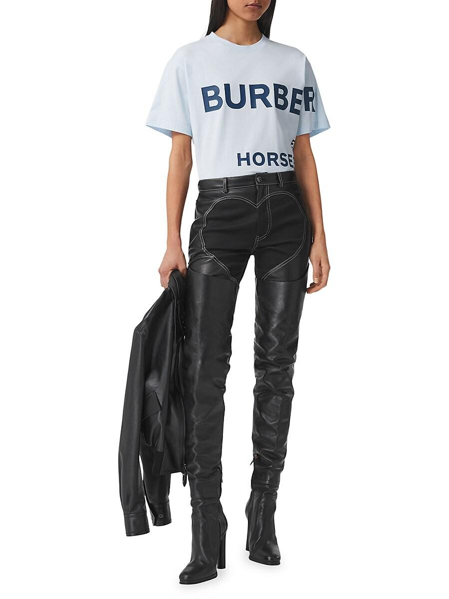 BURBERRY Cottons WOMEN'S CARRICK LOGO T-SHIRT