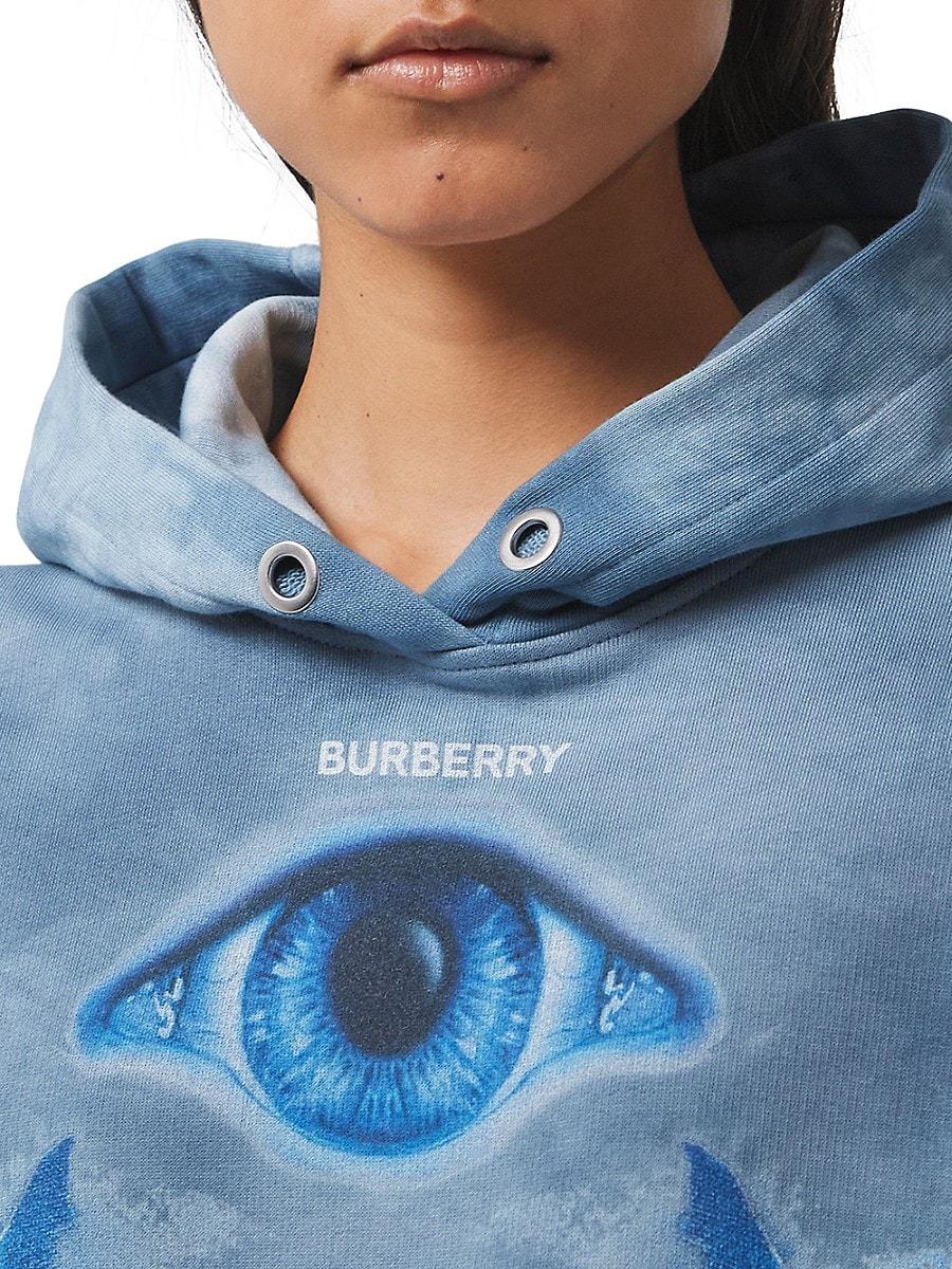 BURBERRY Coats WOMEN'S POULTER PRINTED TIE-DYE HOODIE
