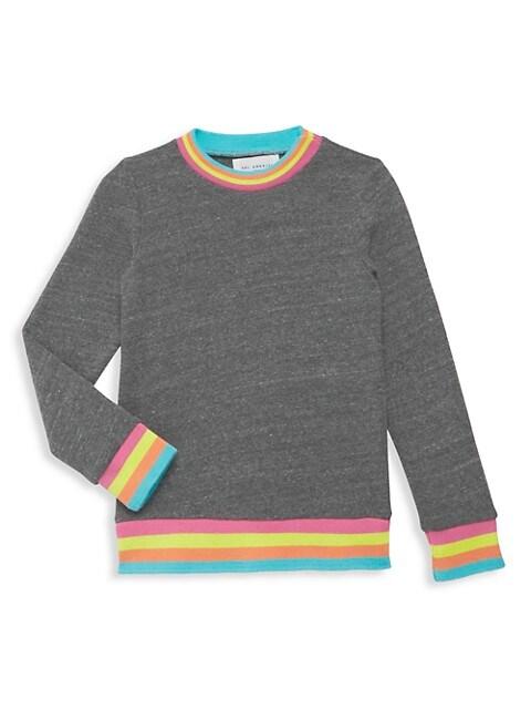 Little Girl's & Girl's Neon-Trim Sweatshirt