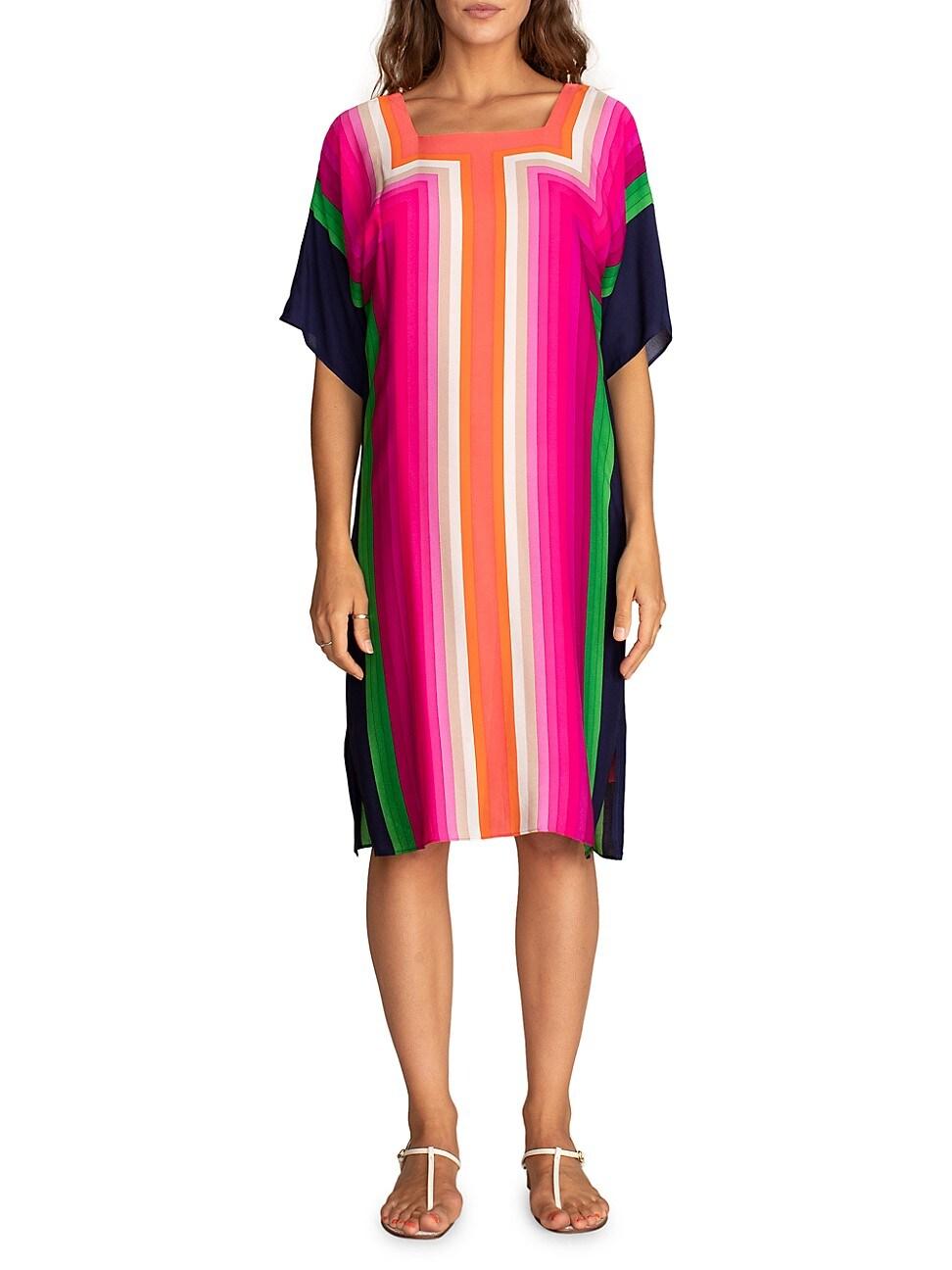 Trina Turk WOMEN'S JOCELINE STRIPED SHIFT DRESS