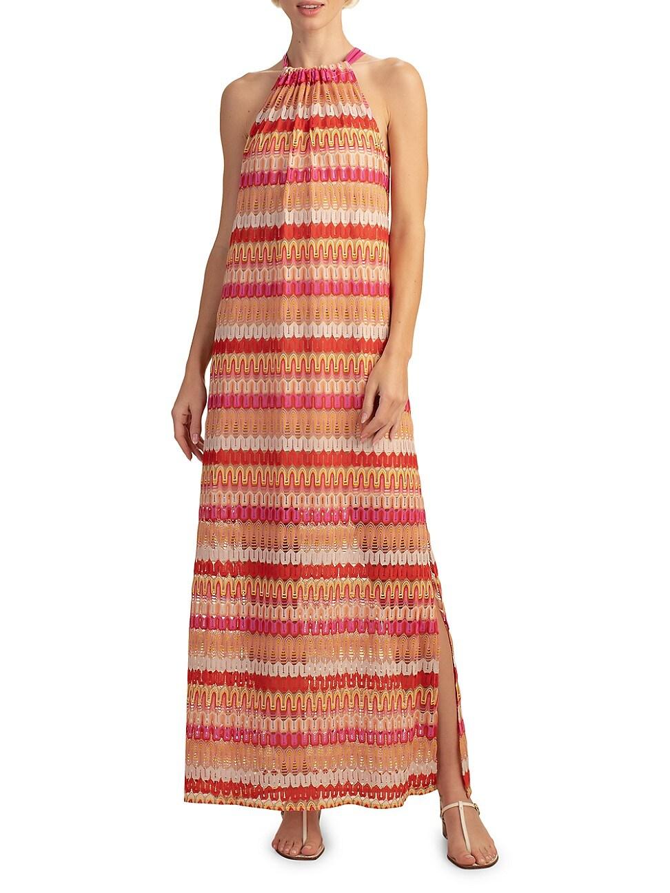 Trina Turk WOMEN'S PENNE STRIPED MAXI DRESS