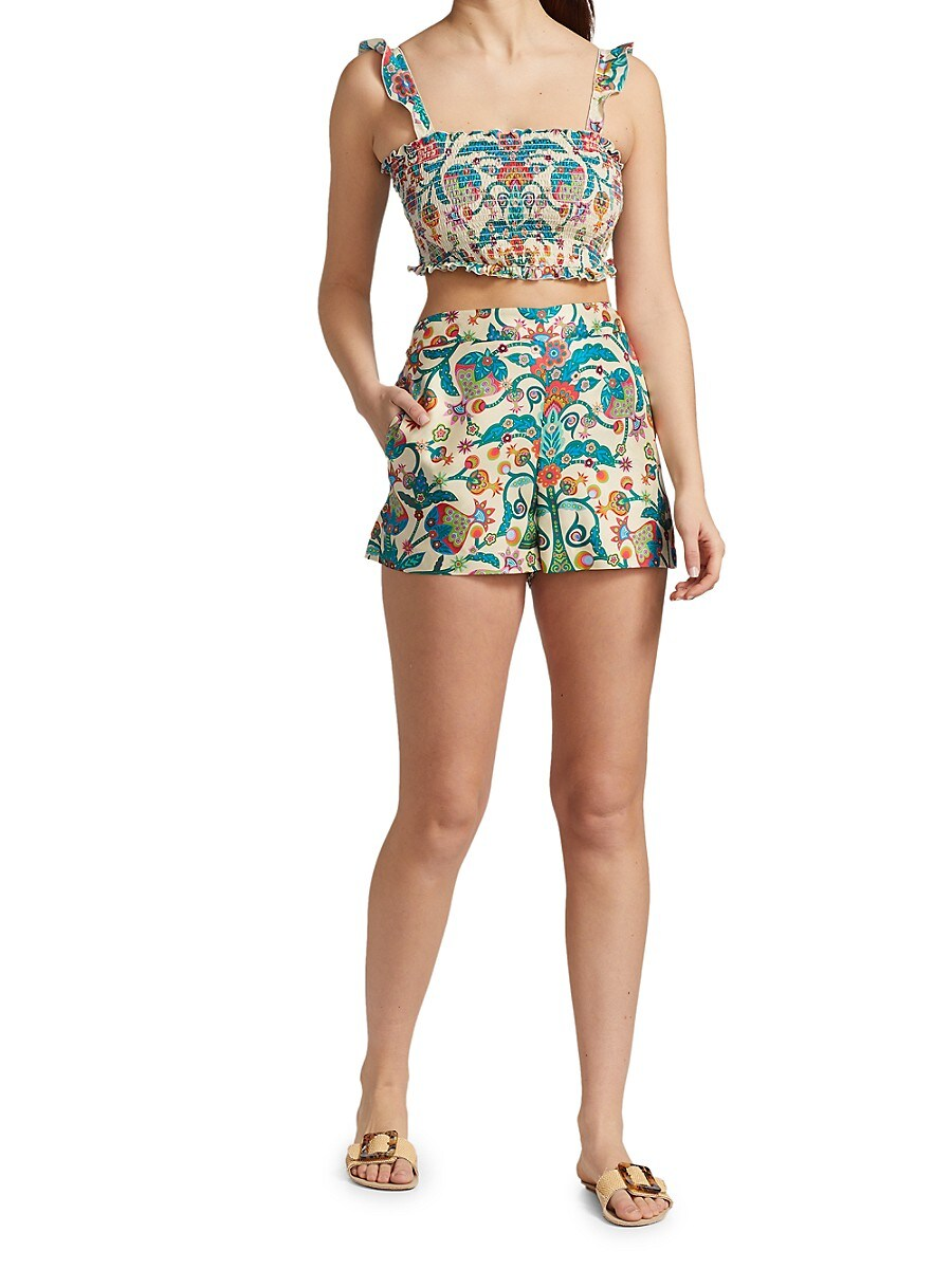LA DOUBLEJ Shorts WOMEN'S FLORAL BOXER SHORTS