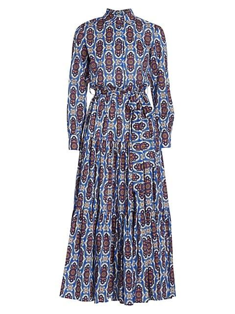 Bellini Printed Midi Shirtdress