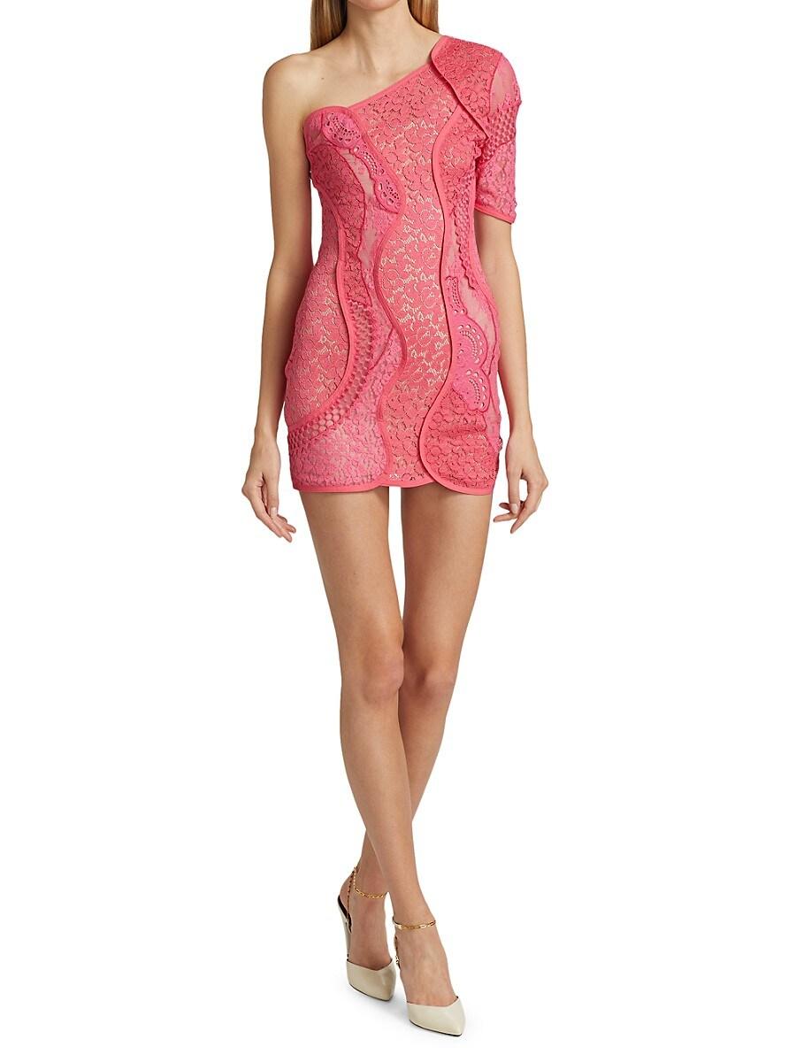 STELLA MCCARTNEY Mini dresses WOMEN'S DANIELA LACE ONE-SHOULDER DRESS