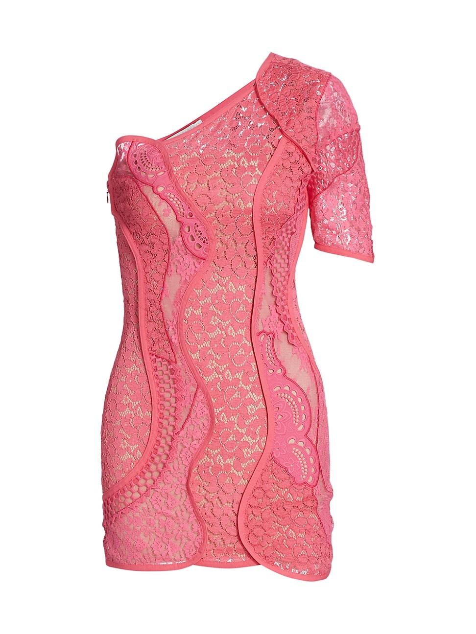 Stella Mccartney WOMEN'S DANIELA LACE ONE-SHOULDER DRESS