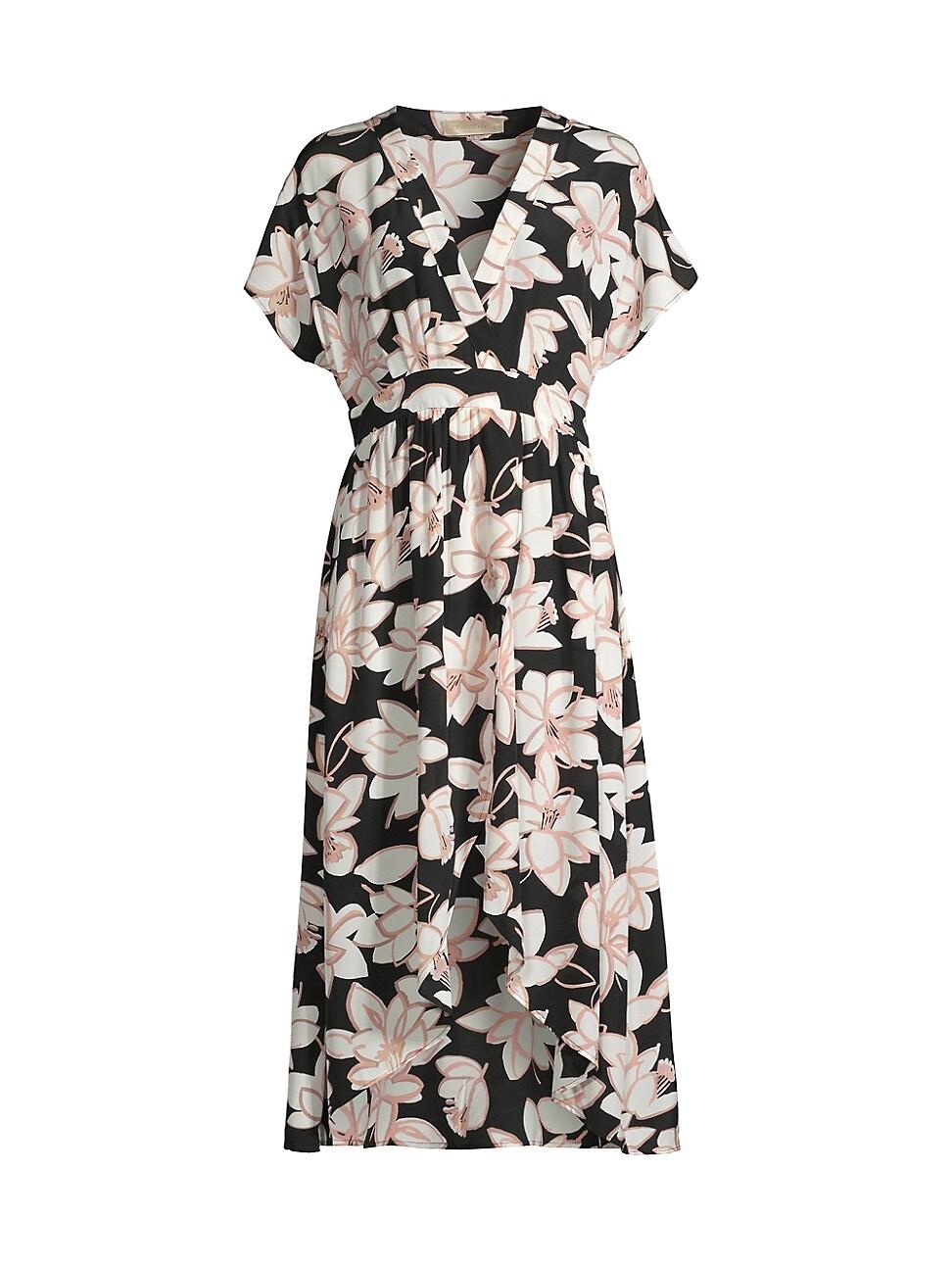 Momoní WOMEN'S VARESE FLORAL SILK A-LINE DRESS