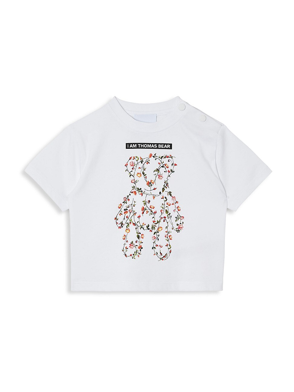 Burberry BABY'S AND LITTLE GIRL'S MONTAGE-PRINT ROSE TEDDY BEAR COTTON T-SHIRT
