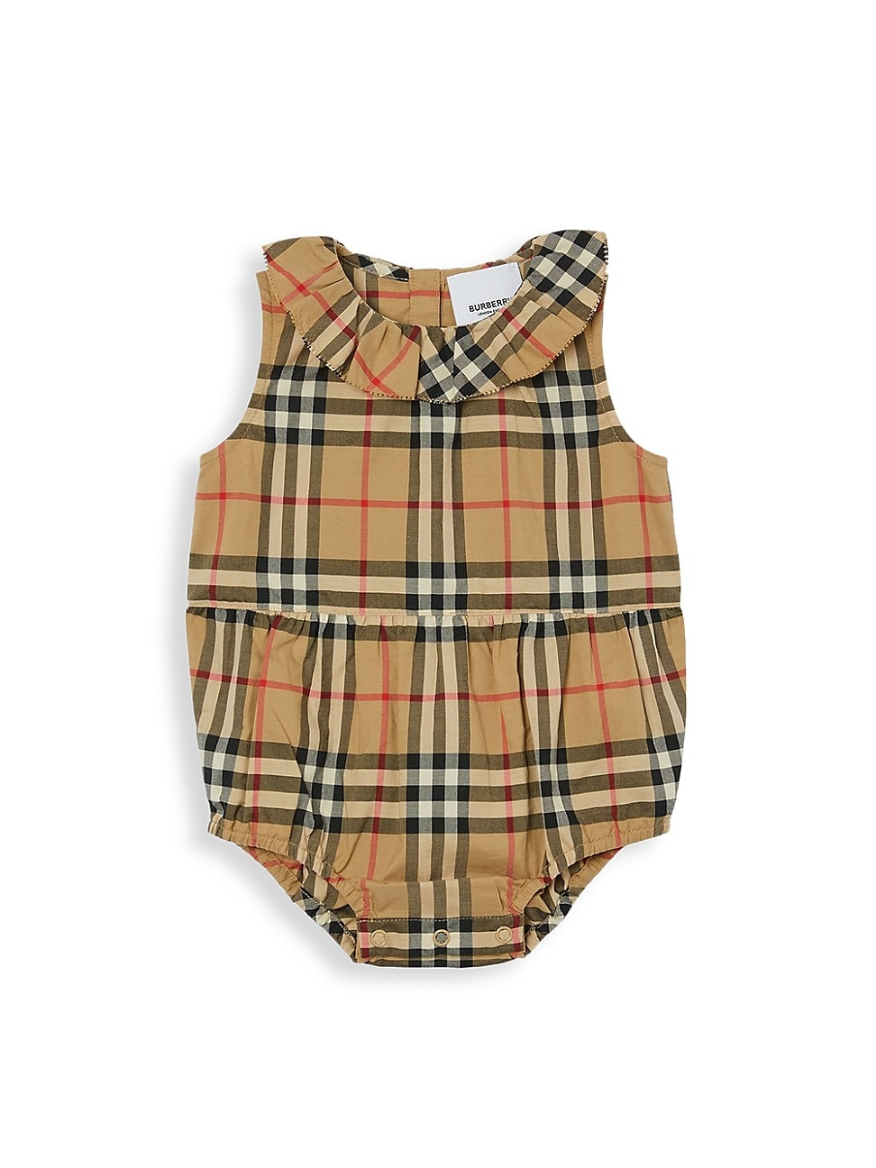Burberry Cottons BABY'S NORAH CHECK BODYSUIT