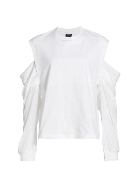 Capucine Draped-Sleeve Top