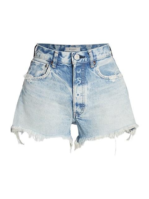 Tribbey High-Rise Denim Shorts