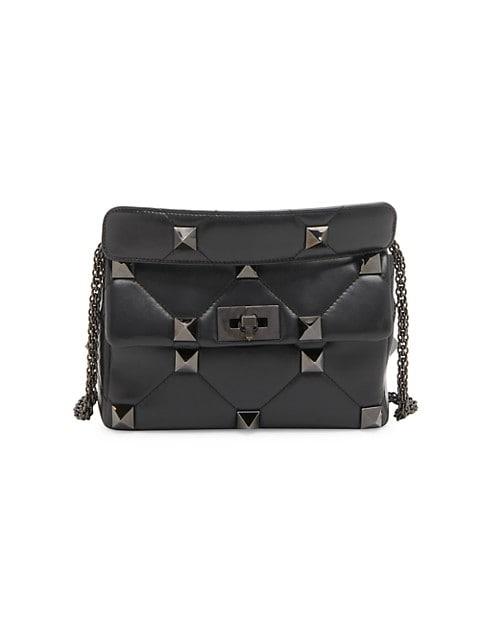 Roman Stud Leather Small Shoulder Bag