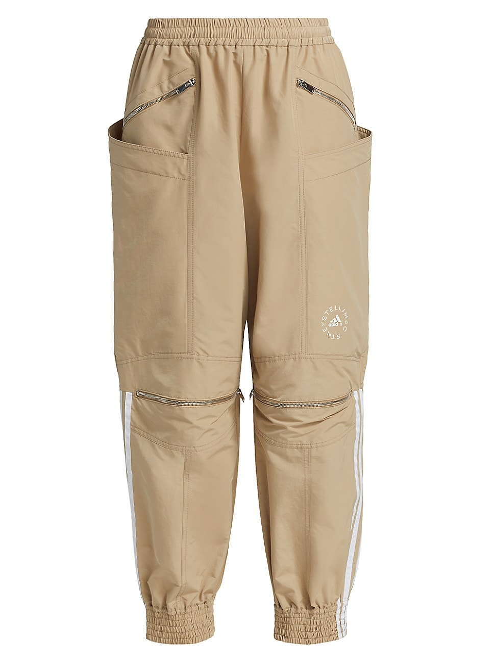 Stella Mccartney Cottons JUNE KHAKI ZIP TROUSERS