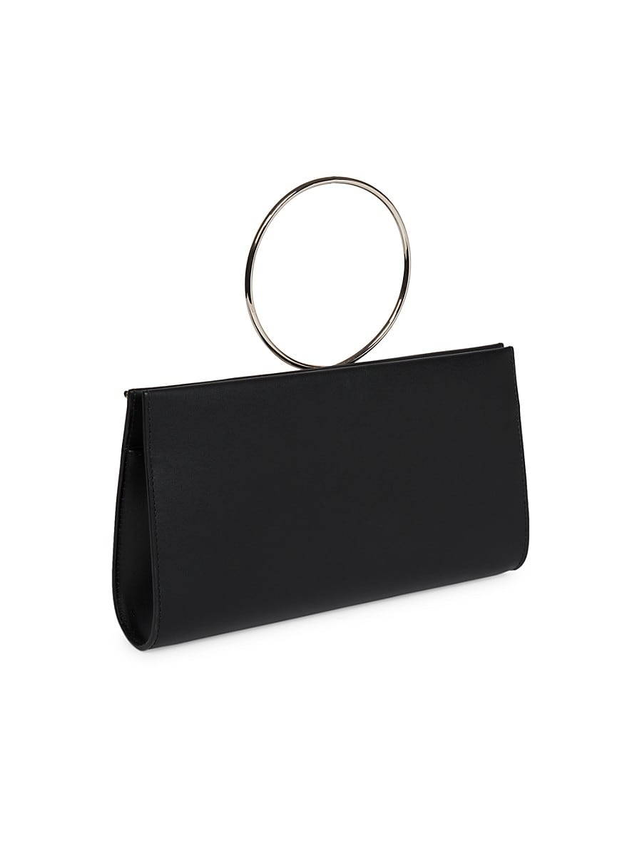 PACO RABANNE Leathers WOMEN'S WANNABE LEATHER CLUTCH
