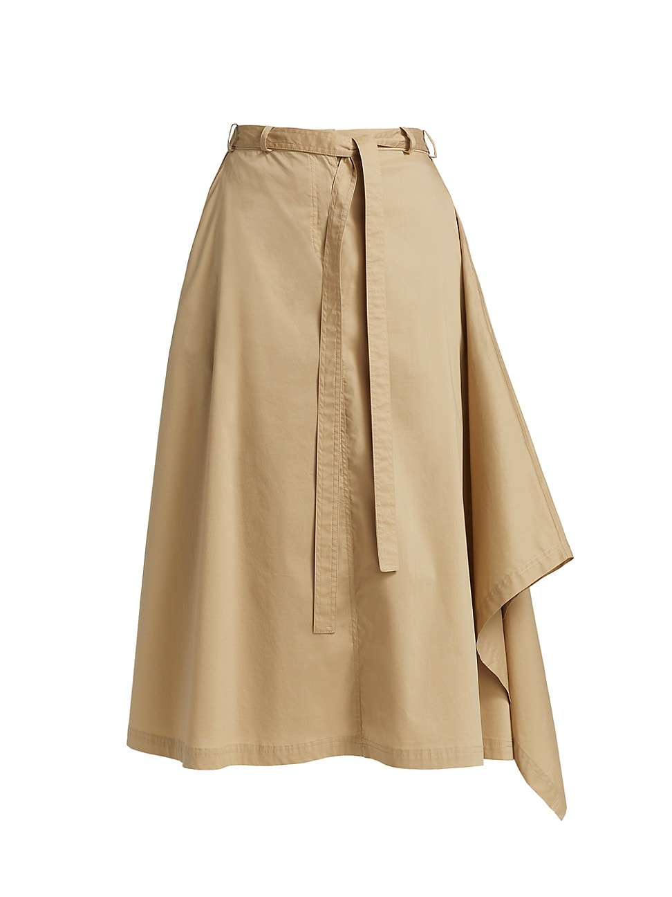 Halston WOMEN'S MINA BELTED COTTON SKIRT