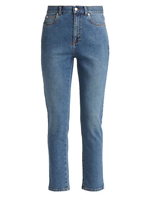 High-Rise Fitted Stretch Jeans