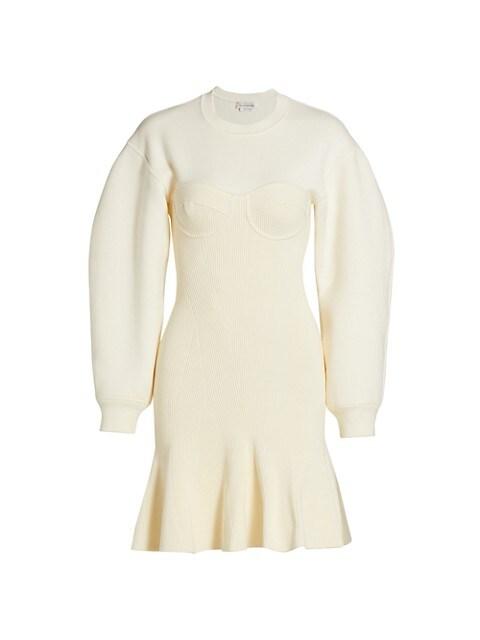 Compact Knit Bustier Mini Dress