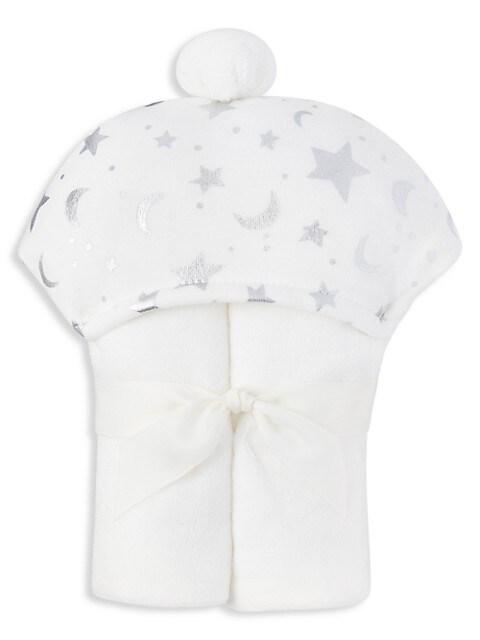 Baby's Organic Moon & Stars Hooded Towel