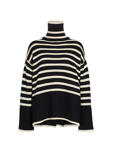 Signature Stripe Turtleneck Sweater