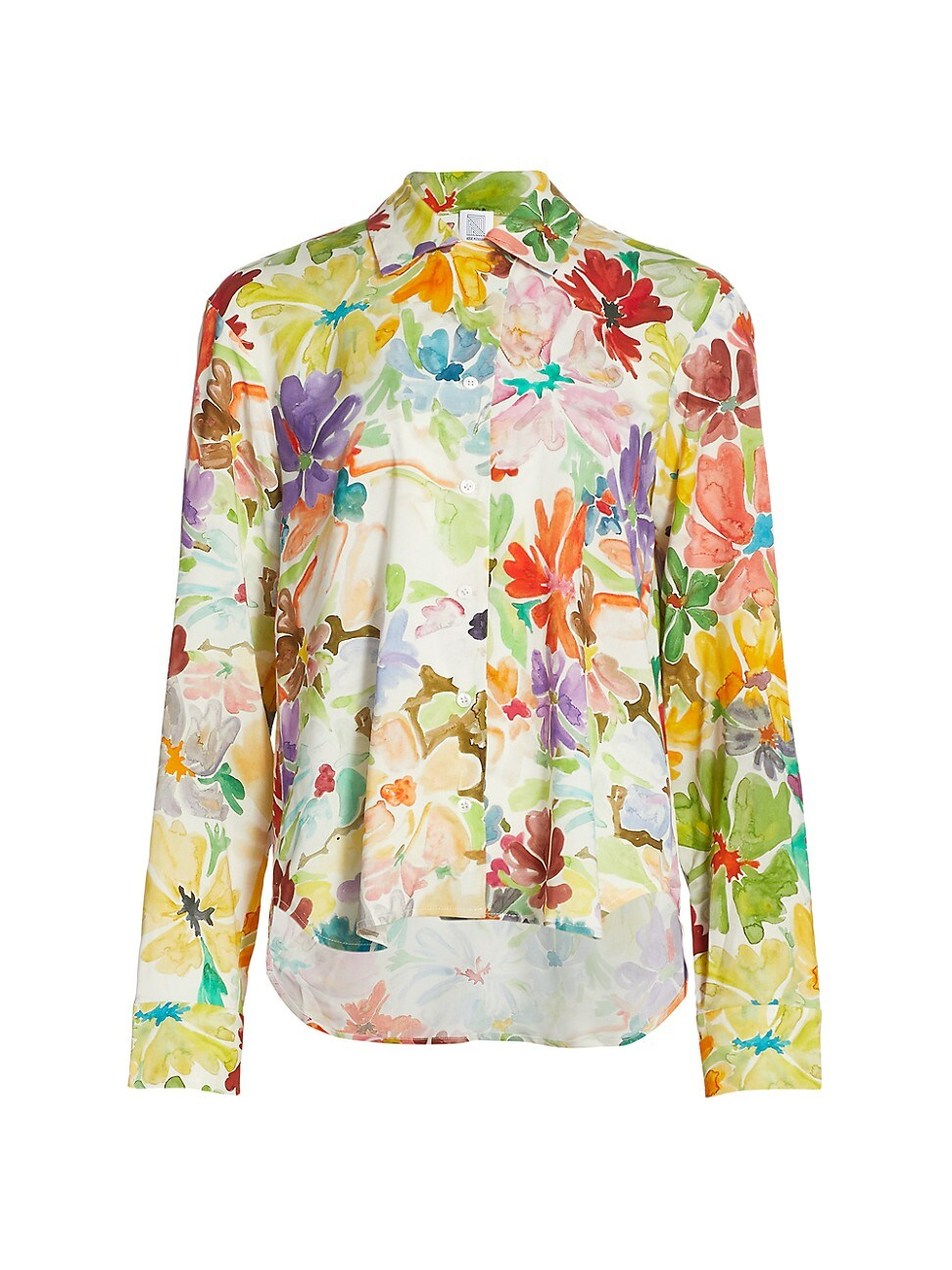 Rosie Assoulin Women's Floral Button-up Shirt In Rainbow