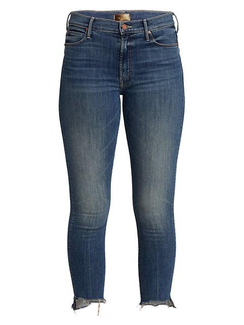 The Stunner Fray Step-Hem Ankle Jeans