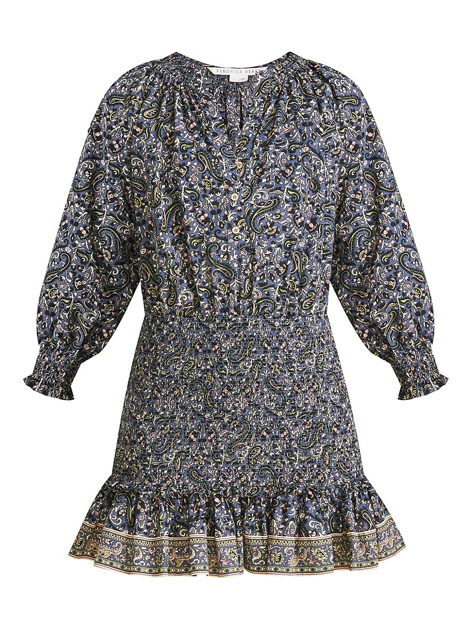 Veronica Beard WOMEN'S KARLINA PRINTED SMOCKED MINI DRESS