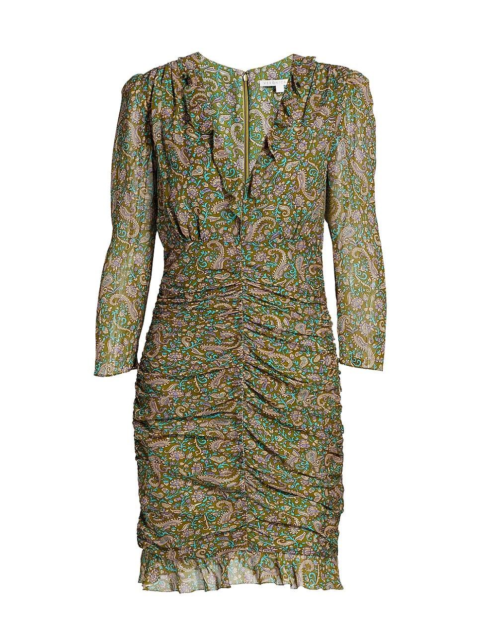 Veronica Beard WOMEN'S SHALA RUCHED SILK DRESS