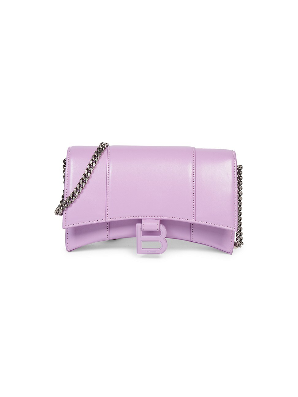 Balenciaga WOMEN'S HOURGLASS LEATHER WALLET-ON-CHAIN