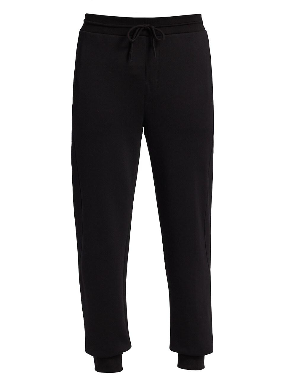 Ermenegildo Zegna Premium Cotton Joggers In Black