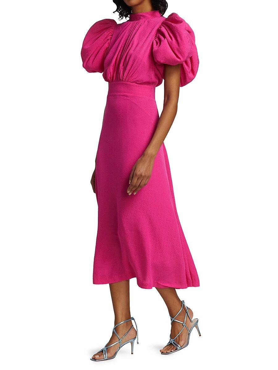 ROTATE BIRGER CHRISTENSEN Dresses WOMEN'S DAWN PUFF-SLEEVE DRESS