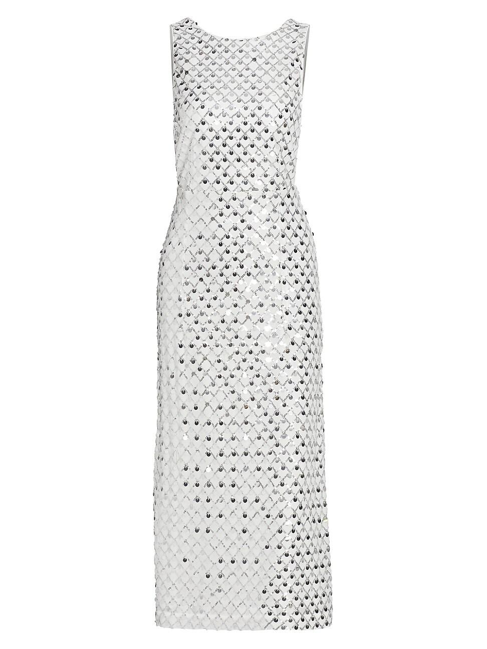 Rotate Birger Christensen WOMEN'S TORIANA SLEEVELESS SEQUIN DRESS