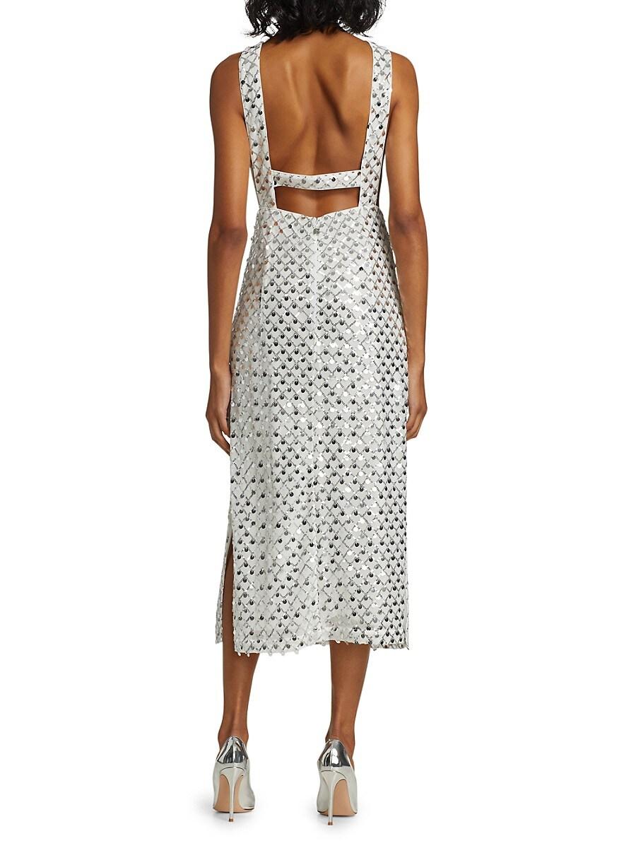 ROTATE BIRGER CHRISTENSEN Dresses WOMEN'S TORIANA SLEEVELESS SEQUIN DRESS