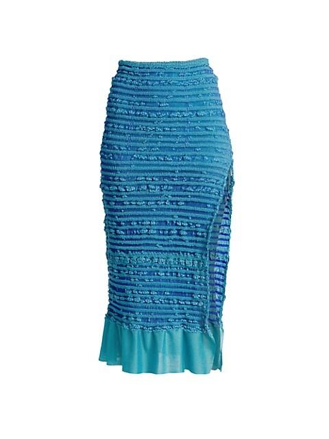 Puckered Stitch Pencil Skirt