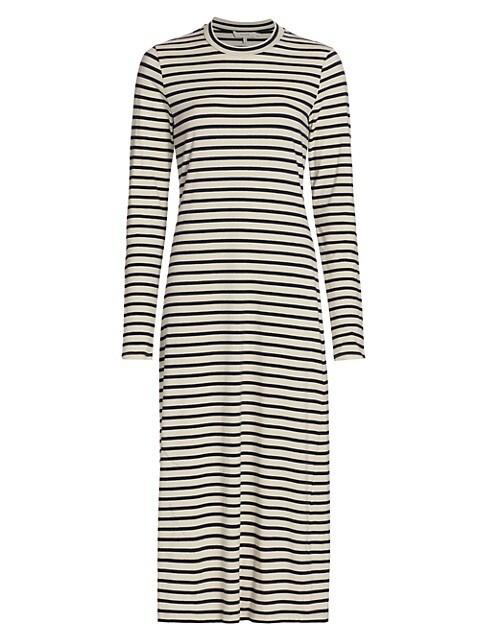 Tiki Striped Midi T-Shirt Dress