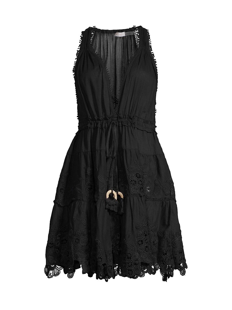 Ramy Brook WOMEN'S VILMA LACE EYELET A-LINE DRESS