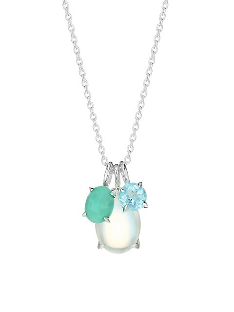 Rock Candy® Luce Sterling Silver & 3 Mixed-Stone Pendant Necklace
