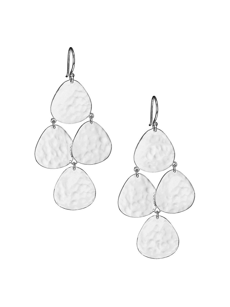 Ippolita Earrings WOMEN'S 925 CLASSICO CRINKLE SMALL NOMAD CASCADE EARRINGS