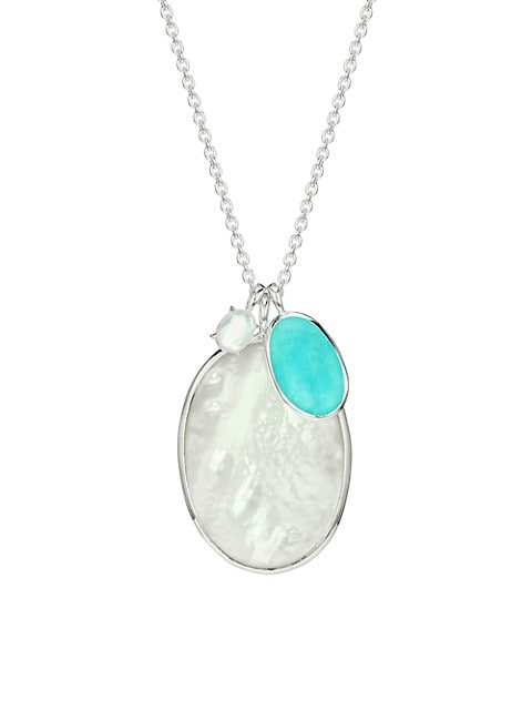 925 Rock Candy® Luce Sterling Silver Multi-Stone Double Pendant Necklace