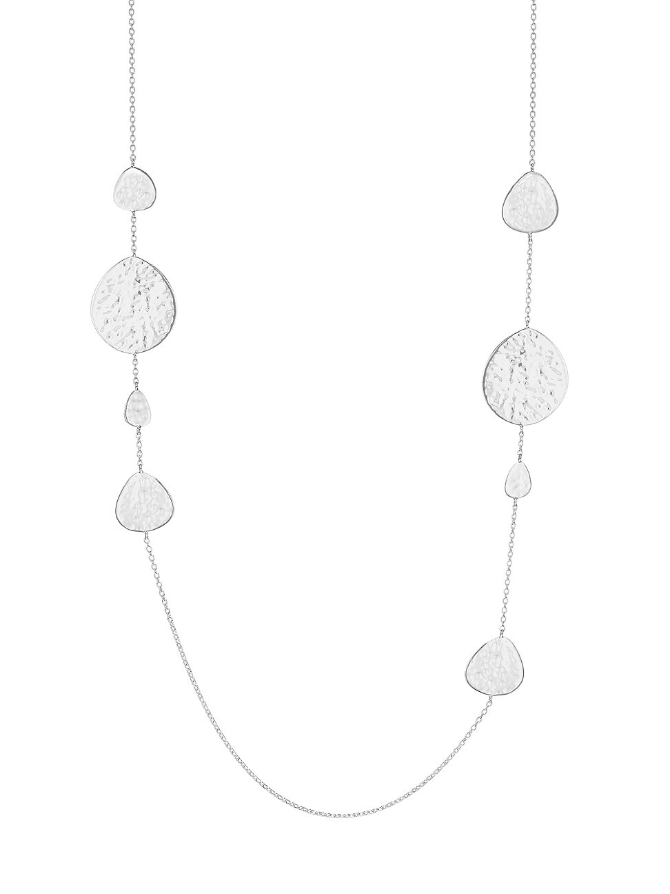 Ippolita WOMEN'S CLASSICO STERLING SILVER CRINKLE NOMAD LONG STATION NECKLACE