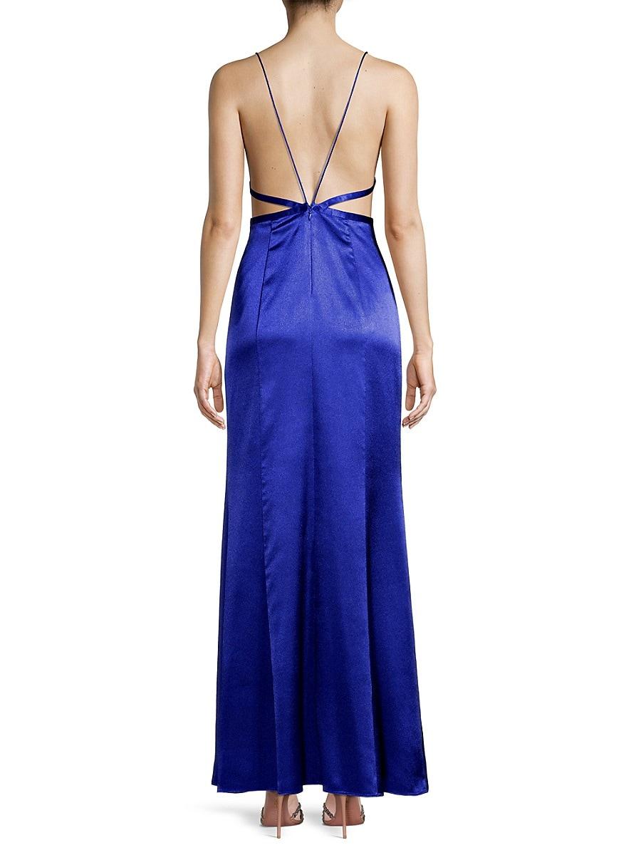 AIDAN MATTOX Maxi dresses WOMEN'S LIQUID SATIN MERMAID DRESS