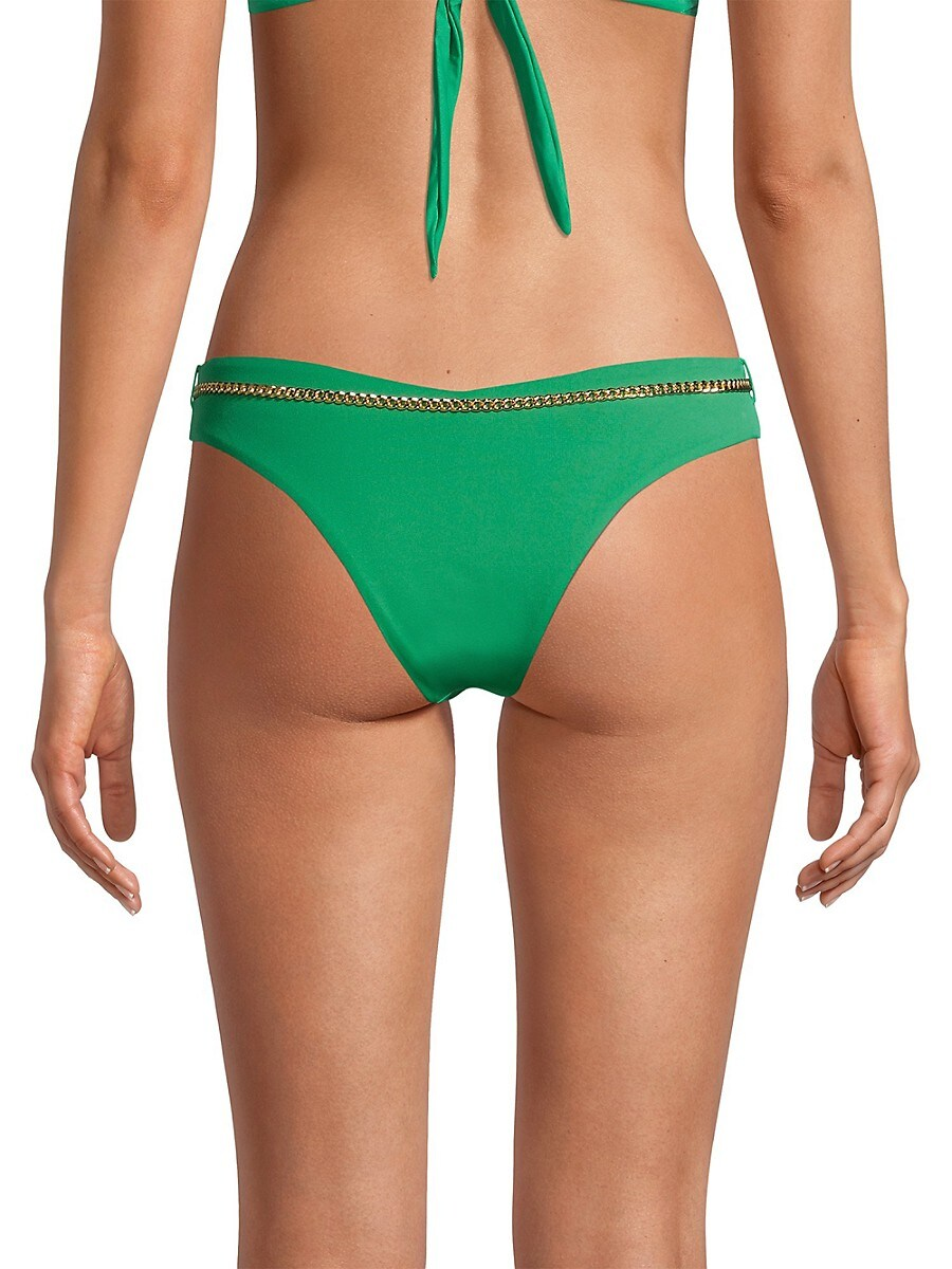 WEWOREWHAT Bikinis WOMEN'S DELILAH CHAIN-BELTED BIKINI BOTTOM