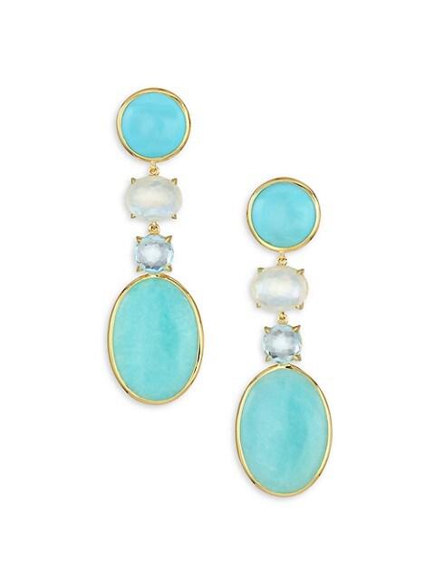 18K Rock Candy® 18K Yellow Gold & Multi-Stone Medium Linear Earrings