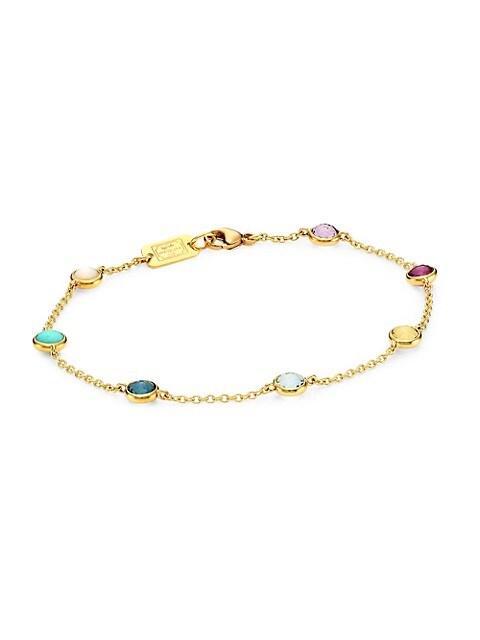 Lollipop® 18K Yellow Gold & Multi-Stone Station Link Bracelet