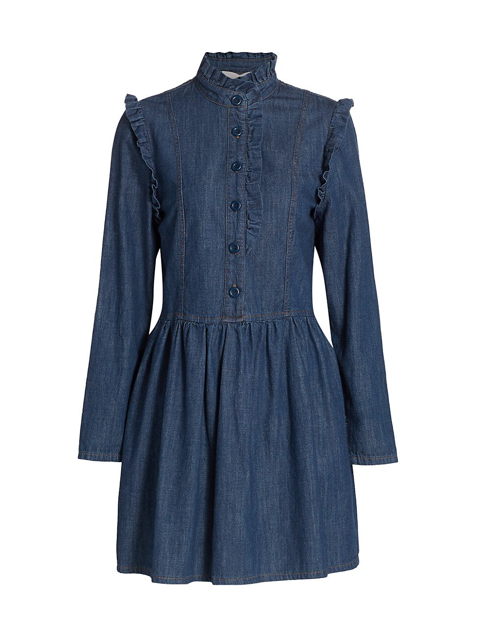 See By Chloé WOMEN'S FLOU DENIM MINI SHIRTDRESS