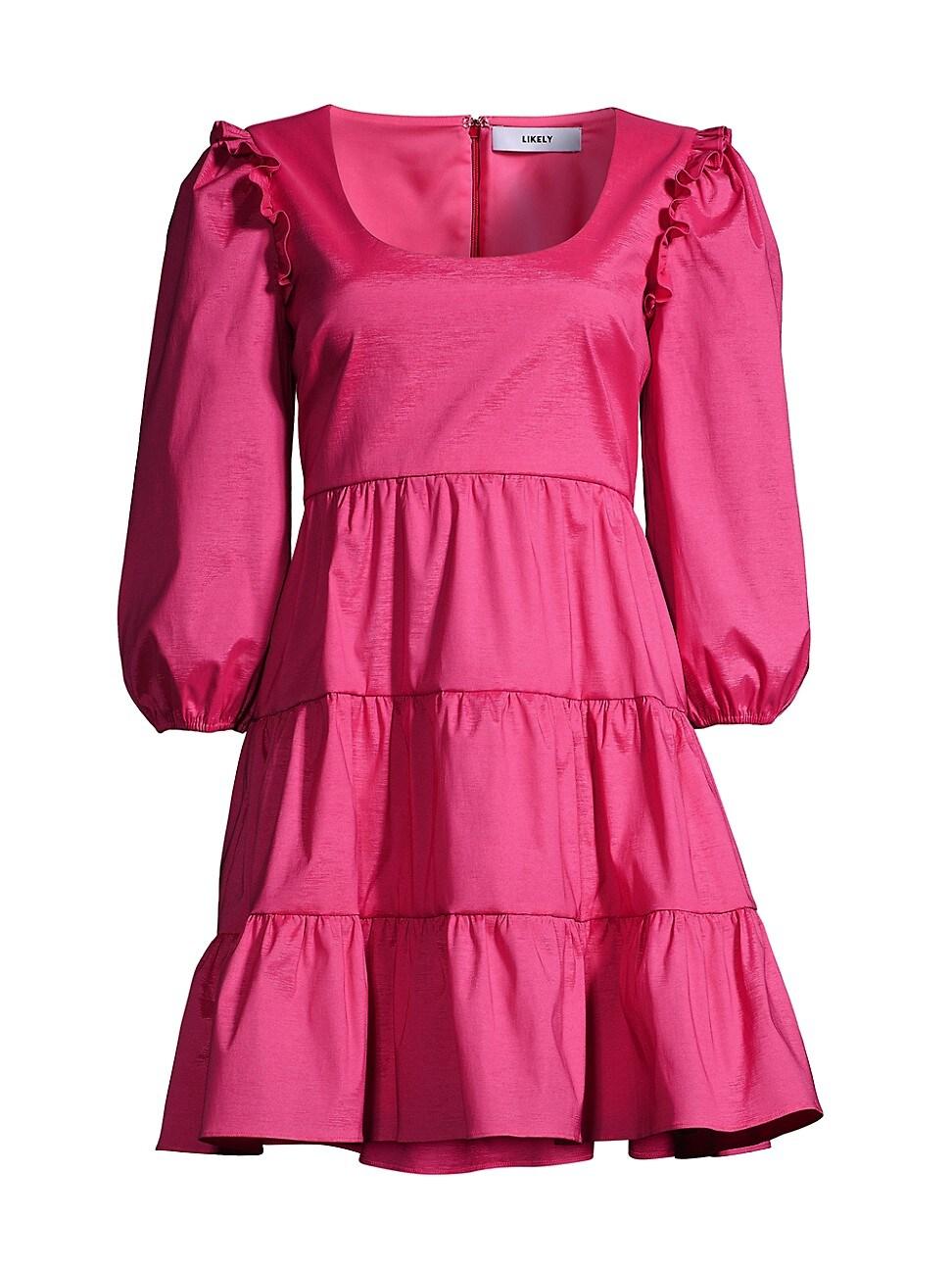Likely WOMEN'S AVENA PUFF-SLEEVE MINI A-LINE DRESS