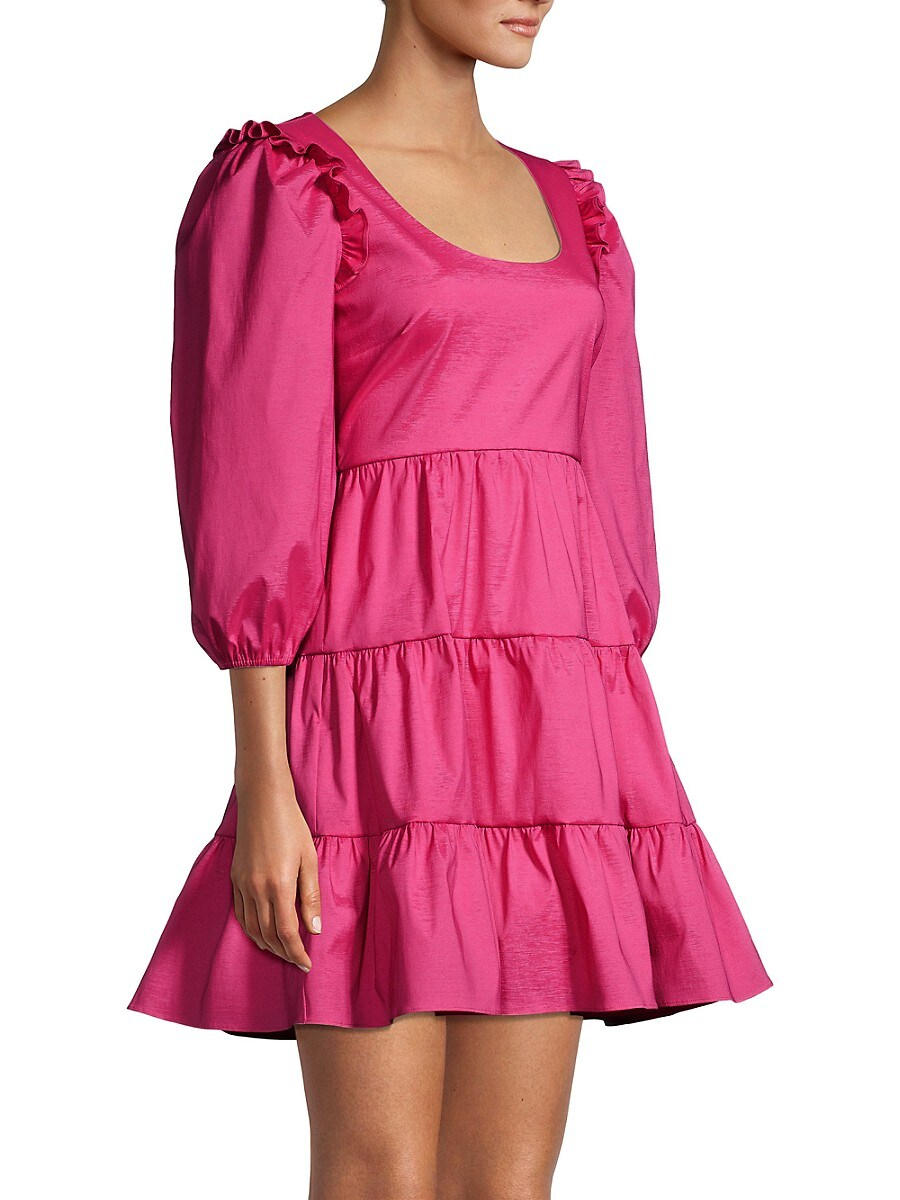LIKELY Mini dresses WOMEN'S AVENA PUFF-SLEEVE MINI A-LINE DRESS