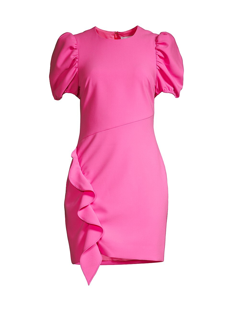 Likely WOMEN'S MALTA PUFF-SLEEVE RUFFLE SHEATH DRESS